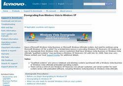Производители ПК предлагают откат Vista до Windows XP