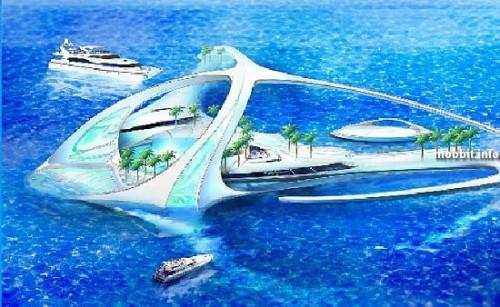 Подводный комплекс Hydropolis в Дубаях (6 фото)