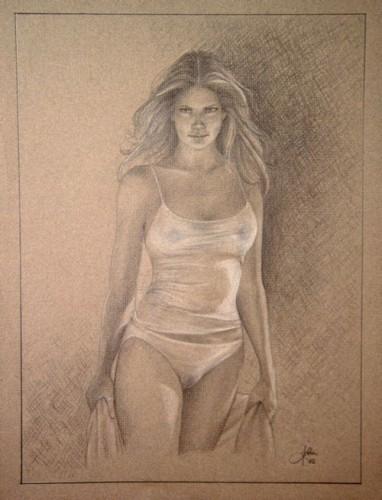 рисунок голая