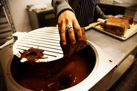 processing chocolate