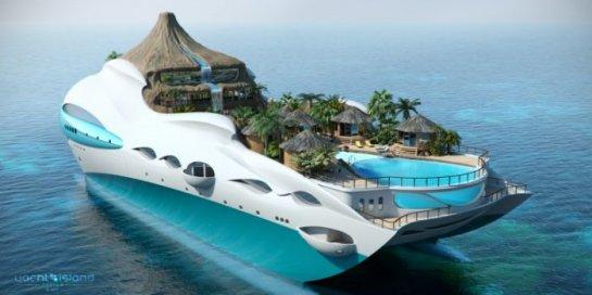 Мини остров и яхта - 2 в 1